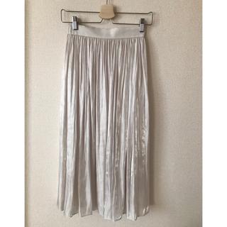 ANAYI - allureville アルアバイル プラチナ割繊サテンギャザースカート