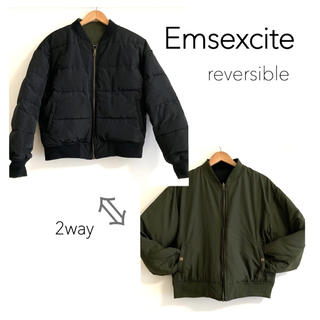 EMSEXCITE - リバーシブル ダウンジャケット ZARA EMODA MURUA
