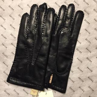 ビームス(BEAMS)の【専用】新品 DENTS/デンツ CHELSEAレザーグローブ ブラック/7.5(手袋)