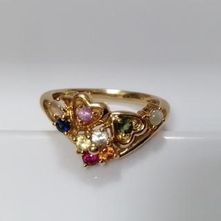 専用★QVC ナワラタナ K18 アミュレット リング 8号 指輪 18金(リング(指輪))