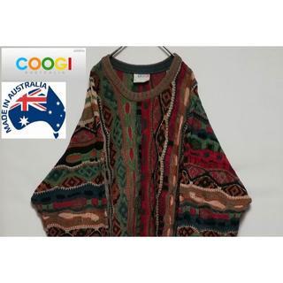 クージー(COOGI)の80年代 90年代 COOGI 3Dデザインニット オーストラリア XL(ニット/セーター)