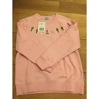 ポンポネット(pom ponette)のポンポネット ピンク トレーナー  春 新品未使用(Tシャツ/カットソー)