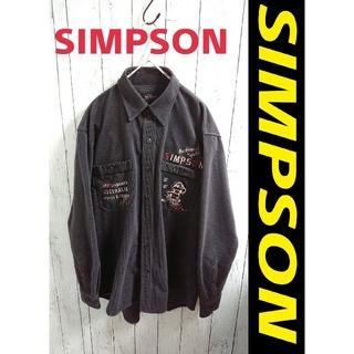 90s SIMPSON シンプソン アートデザインシャツ アニマル キャラ刺繍