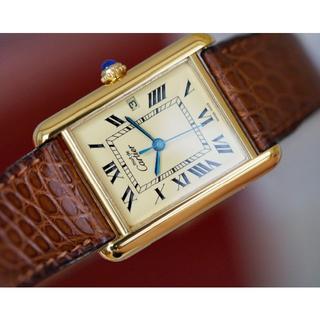 Cartier - 美品 カルティエ マスト タンク アイボリー デイト LM Cartier