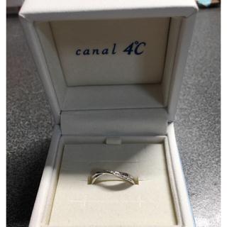 カナルヨンドシー(canal4℃)の4℃ ホワイトゴールドリング 7号(リング(指輪))