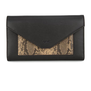 Ungrid - Ungrid⭐︎三つ折りパイソン柄長財布