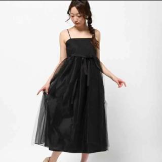 ティアラ(tiara)の新品未使用 Tiara チュール ワンピース(ミディアムドレス)