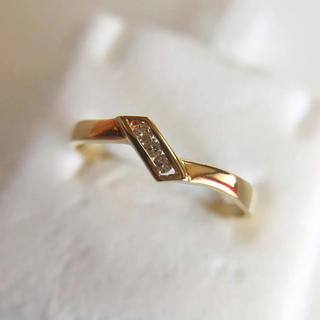 K18YG  ダイヤモンド シンプルリング(リング(指輪))