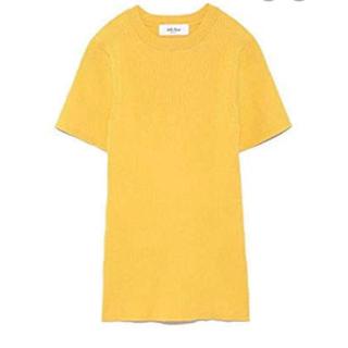 ミラオーウェン(Mila Owen)のMila Owen リブ Tシャツ イエロー(Tシャツ(半袖/袖なし))