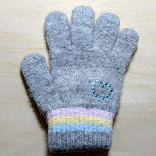 シマムラ(しまむら)のハートストーン手袋(キッズサイズ)(手袋)