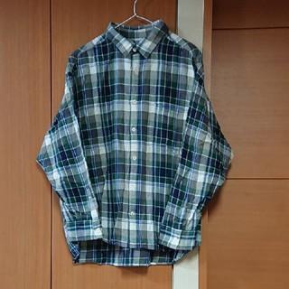 キューブシュガー(CUBE SUGAR)のCUBE SUGAR ゆったりチェックシャツ キューブシュガー(シャツ/ブラウス(長袖/七分))