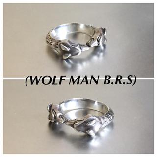 ウルフマンB.R.Sダブルヘッドリング925silver(リング(指輪))