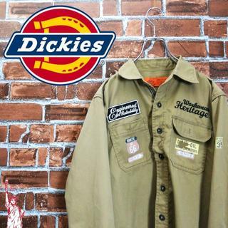 ディッキーズ(Dickies)の【刺繍】【ワッペン】ディッキーズ☆ベージュ シャツ 長袖(シャツ)