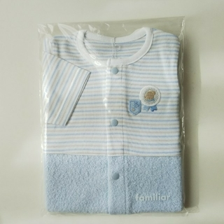 familiar - 【新品】ファミリア 2ウェイ ロンパース 水色