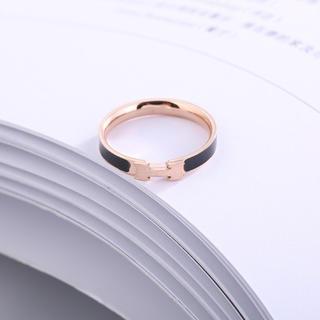 ステンレスリング ステンレス指輪  ピンキーリング H字リング(リング(指輪))