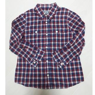 ボンポワン(Bonpoint)のBonpoint チェックシャツ4A(ブラウス)