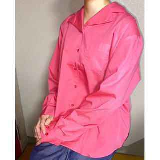 COMME des GARCONS - 新品 vintage ヴィンテージ フランス軍 ピンク オープンカラーシャツ
