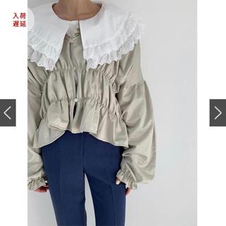 エディットフォールル(EDIT.FOR LULU)のbisou  glitter shirring blouse(シャツ/ブラウス(長袖/七分))