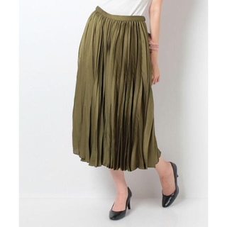 ロペ(ROPE)のロペ  変形デザインプリーツスカート(ロングスカート)