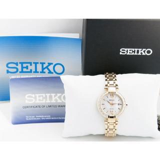 SEIKO - 新品 海外限定 セイコー 20石ダイヤ MOPシェル レディース ソーラー腕時計