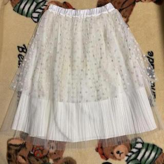 メリージェニー(merry jenny)のmerry jenny ホワイト ペチコートスカート(ひざ丈スカート)