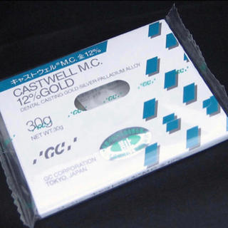 新品 GCキャストウェル 12%金パラ 30g 歯科用金属 021301(その他)