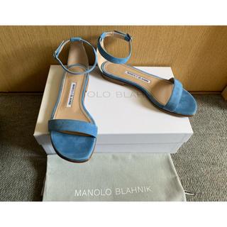 MANOLO BLAHNIK - 美品 マノロブラニク フラットサンダル 35.5
