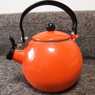 やかん オレンジ(調理道具/製菓道具)