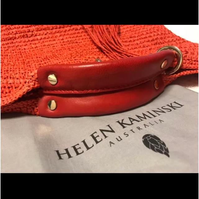 HELEN KAMINSKI(ヘレンカミンスキー)の美品❤️HELEN KAMINSKI  チャーム付  かごバッグ ストラップ レディースのバッグ(かごバッグ/ストローバッグ)の商品写真