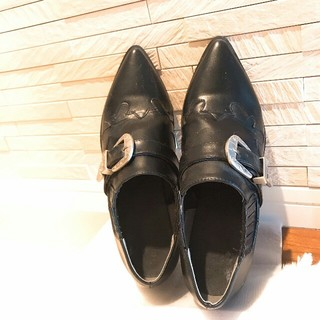 GU - GU⭐ウエスタン調革靴♪マウジー、アングリッド、ZARA、ローズバッド系⭐