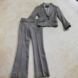 クードシャンス(COUP DE CHANCE)の美品クードシャンスツイードセットアップパンツスーツ、サイズ36、S。(スーツ)