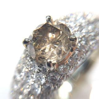 【天然ダイヤモンド】 1.18ct K18WG リング(リング(指輪))