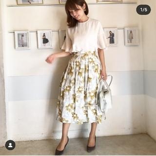 アナトリエ(anatelier)のBonn sylph☆フラワー刺繍スカート(ひざ丈スカート)