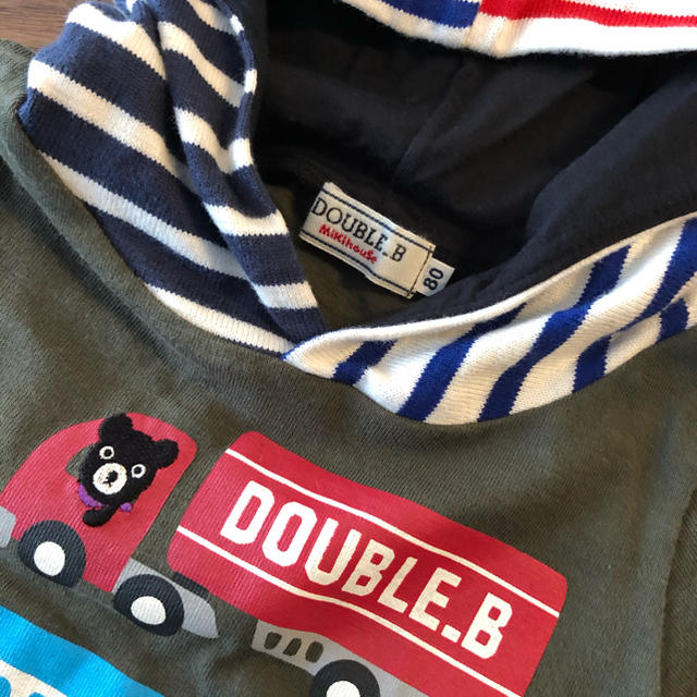 DOUBLE.B(ダブルビー)のDOUBLE.B  mikihouse トレーナー キッズ/ベビー/マタニティのベビー服(~85cm)(トレーナー)の商品写真