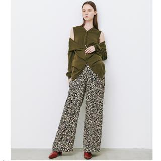 LE CIEL BLEU - Leopard Print Crease Line Pants