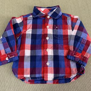 トミーヒルフィガー(TOMMY HILFIGER)のトミーヒルフィガー チェックシャツ 60㎝(シャツ/カットソー)