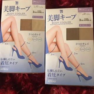 アツギ(Atsugi)のスアツギ トッキング美脚キープ JM〜L ベージュ3足組✖︎2セット(タイツ/ストッキング)