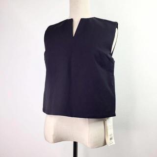 ミラオーウェン(Mila Owen)の未使用 タグ付き ミラオーウェン トップス ノースリーブ ネイビー S(Tシャツ(半袖/袖なし))