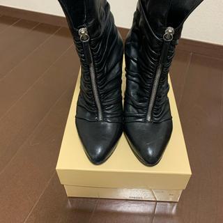 ジュゼッペザノッティ(GIUZEPPE ZANOTTI)のジュゼッペザノッティ GIUSEPPE ZANOTTI 黒ブーツ 36 ルブタン(ブーツ)