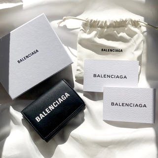 Balenciaga - BALENCIAGA EVERYDAY 三つ折り財布NERO 【正規】