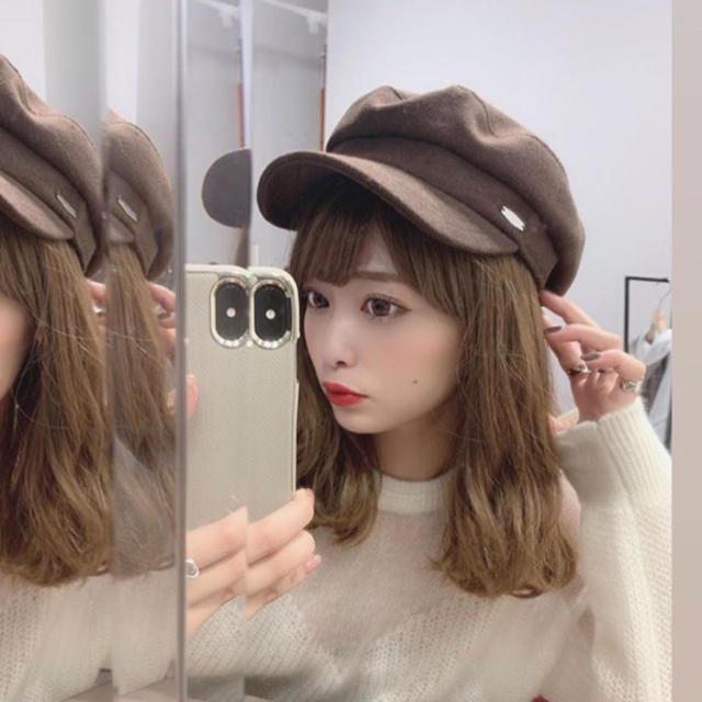 CA4LA(カシラ)のキャスケット ブラウン レディースの帽子(キャスケット)の商品写真