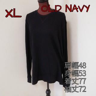 オールドネイビー(Old Navy)のGEᖇIᖇᗩ's shop☆*° 美品 OLD NAVYシンプル黒T サイズXL(Tシャツ/カットソー(七分/長袖))