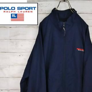 POLO RALPH LAUREN - 308★ 90s ポロスポーツ ナイロンジャケット ワンポイントロゴ ネイビー