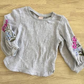 プティマイン(petit main)のプティマイン 袖刺繍トレーナー 90(Tシャツ/カットソー)