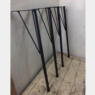 テーブル黒皮鉄足 68 直角/角度有タイプ アイアンレッグ(バーテーブル/カウンターテーブル)
