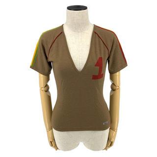 クリスチャンディオール(Christian Dior)のChristian Dior☆ Tシャツ ロゴ ブラウン ラスタカラー NO.1(Tシャツ(半袖/袖なし))