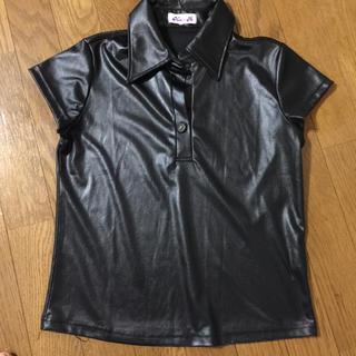 黒ブラウス(Tシャツ(半袖/袖なし))