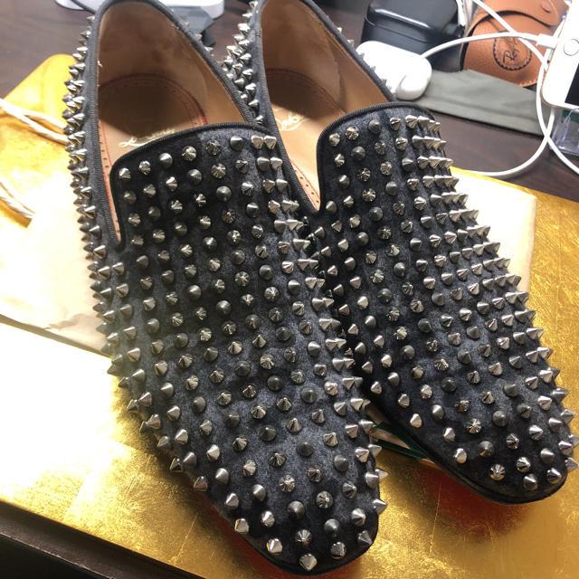 Christian Louboutin(クリスチャンルブタン)のクリスチャンルブタン スパイクフラットローファー メンズの靴/シューズ(ドレス/ビジネス)の商品写真