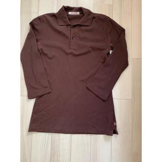 フォーティーファイブアールピーエム(45rpm)の45rpm  ポロシャツ 七分袖 ブラウン(ポロシャツ)