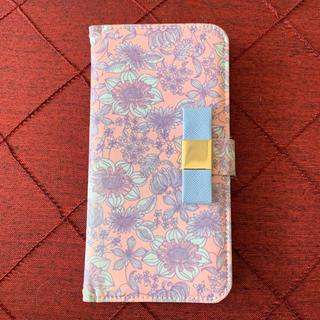 ケイトスペードニューヨーク(kate spade new york)の3/14迄iPhone6未使用手帳型ケース花柄フラワーピンクリボンケイトスペード(iPhoneケース)